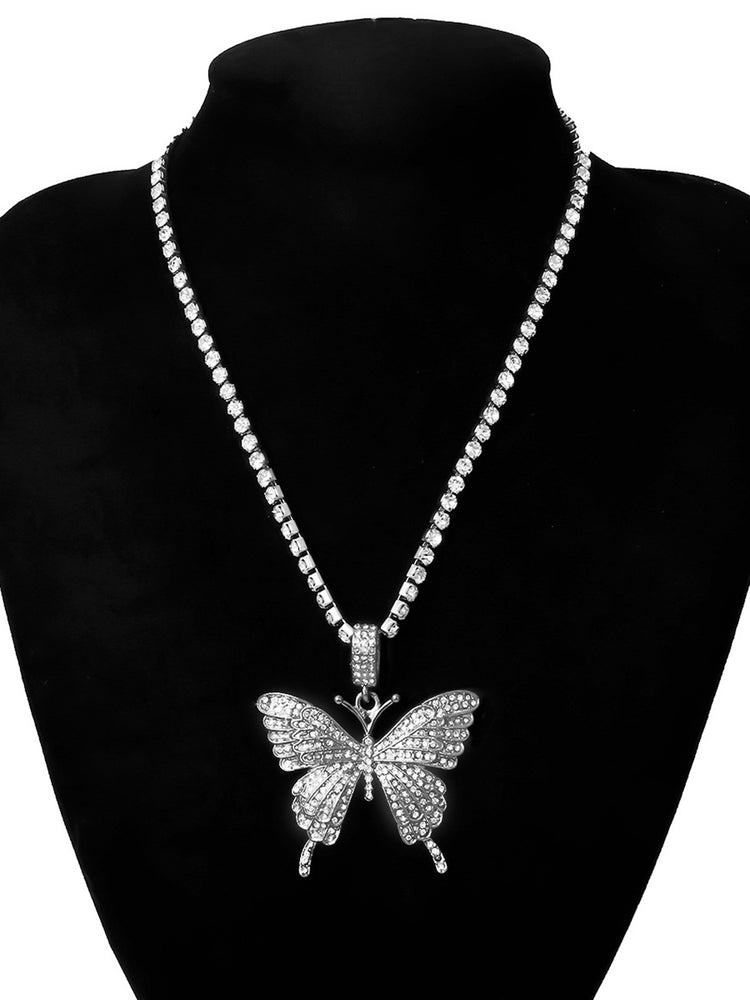 Women Alloy Butterfly Necklaces