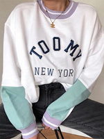 White Casual Cotton Sweatshirt