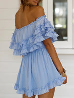 Off-the-shoulder Sexy Strapless Casual Dress
