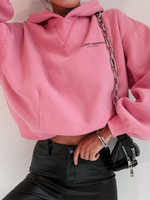 Pink Shift Long Sleeve Floral-Print Letter Sweatshirt