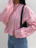 Pink Embroidered Casual Shift Crew Neck Shirts & Tops