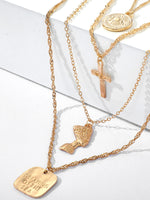 Golden Vintage Alloy Necklaces