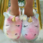 Women's Cute Unicorn Soft Winter Slippers