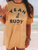 Letter Holiday Short Sleeve Shirts & Tops