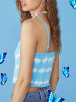 Sleeveless Sheath Ombre/tie-Dye Holiday Camisole