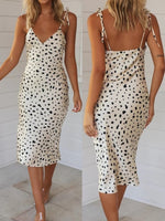 Leopard Print Sleeveless V-Neck Dress