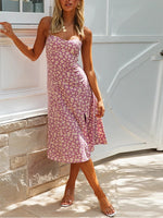 Floral Sleeveless A-Line Dresses