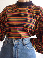 Casual Crew Neck Striped Shift Shirts & Tops