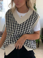 White Printed Shift Checkered/plaid Vintage Shirts & Tops