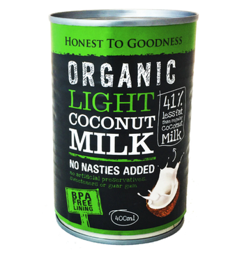Organic Light Coconut Milk 400ml