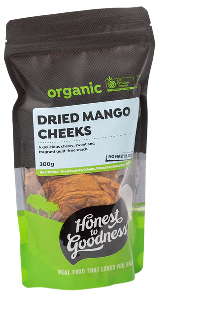 Honest to Goodness - Organic Dried Mango Cheeks 300g - The Original Organic Company