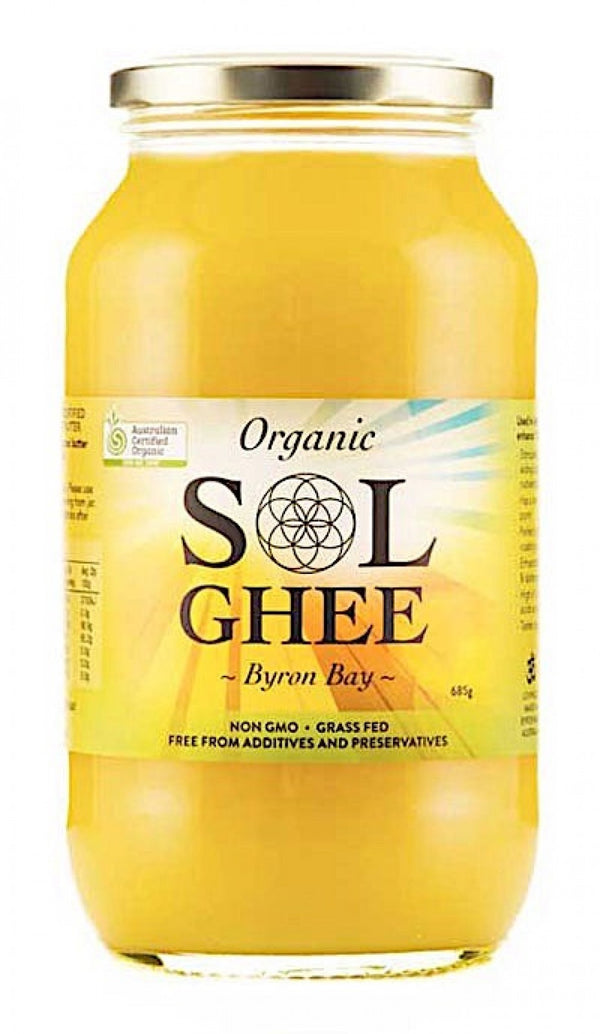 SOL Ghee - Certified Organic - 685g - AVAILABLE NOW