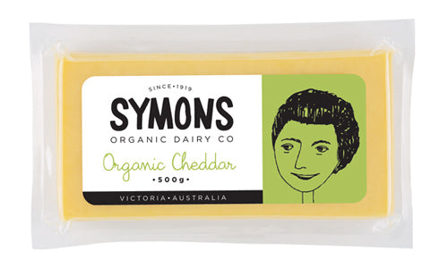 Symons Cheddar Cheese 500g - AVAILABLE NOW - The Original Organic Company