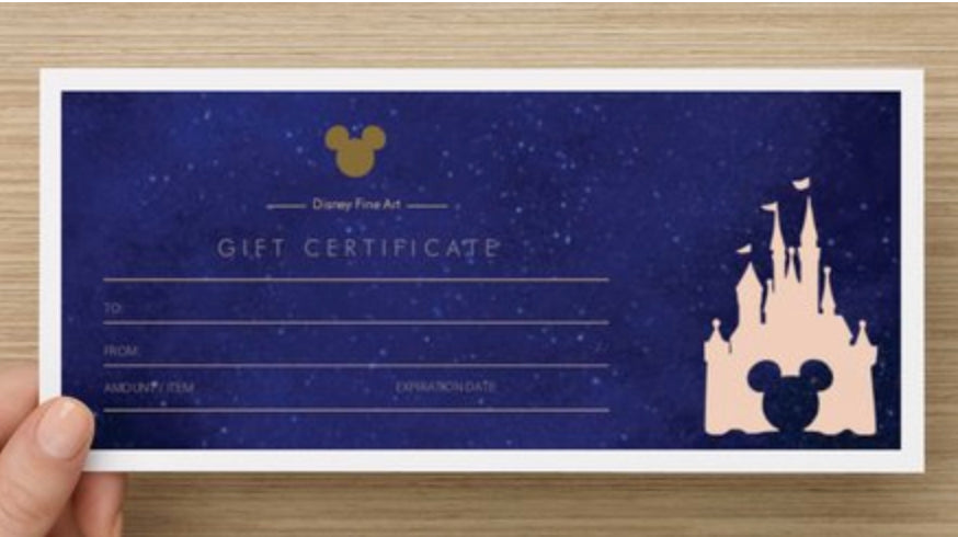 Magic of Disney Art Gift Card