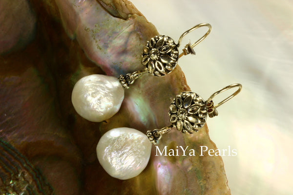 Earrings - Kasumi Like FW Pearl White