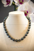 Necklace - Large Black Circlé Pearls