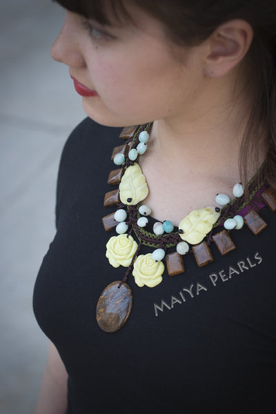 Necklace  -  Variety of Agates and Gemstones