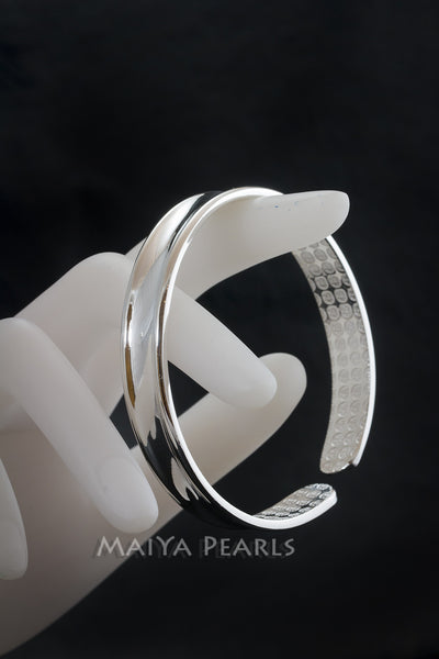 Concave Cuff Bracelet - Pure 999 Solid Silver Band