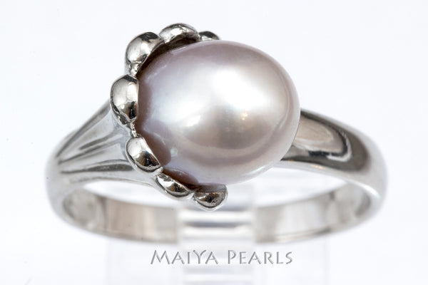 Ring Pearl Horn Setting