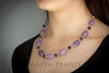 Necklace  -  Lavender and Purple Amethyst & 925 Titanium Adjustable Chain