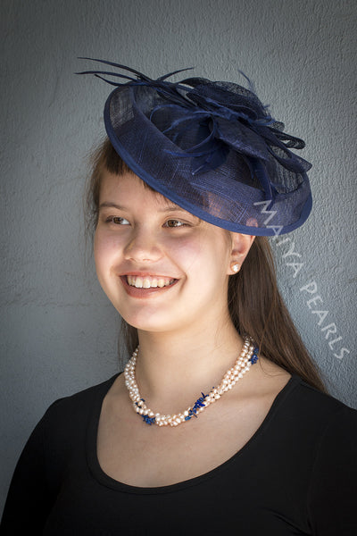 Fascinator - Large & Round with Feather Decorations