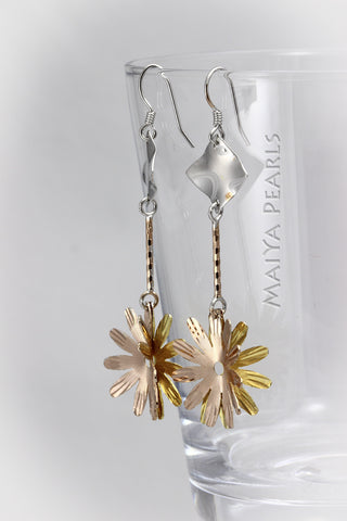 Earrings - 925 sterling silver plated rose gold