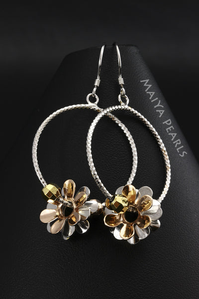 Earrings - 925 sterling silver and plated rose gold