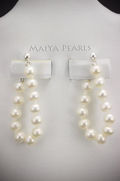 Earrings - 6 - 7mm White Round Freshwater Pearls