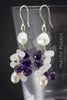 Earrings - Freshwater baroque pearls with Gemstones