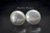 Stud Earrings - Large Flat Button Pearls
