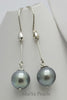 Earrings-Tahiti black Pearl with 925 Sterling Silver