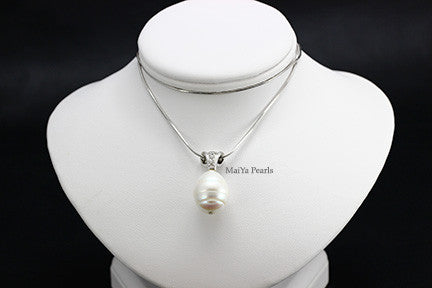 Pendant - Large water drop freshwater Pearl