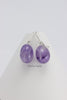 Earrings -  Lavender Amethyst with Argentium Silver Leverback