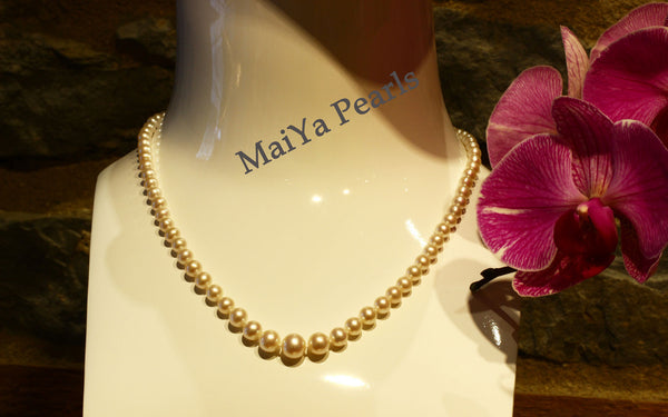 Necklace - AAA Graduated Off-White FW Pearl