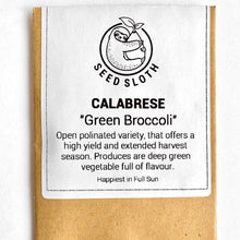 Load image into Gallery viewer, Broccoli - Calabrese Green - Vegetable Seeds Packet