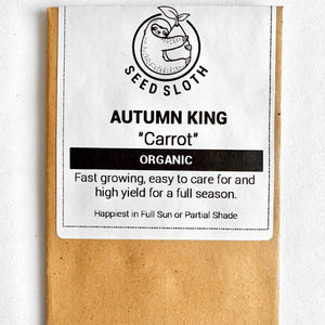 Organic Carrot - Autumn King - Vegetable Seeds Packet