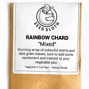 Rainbow Chard - Mixed - Vegetable Seeds Packet
