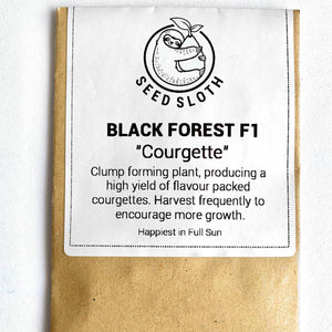 Courgette - Black Forest - Vegetable Seeds packet