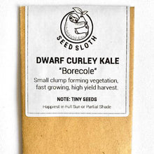Load image into Gallery viewer, Kale - Dwarf Curley Leaf Borecole - Vegetable Seed packet - seedsloth.com