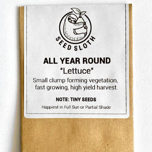 Lettuce - All Year Round - Vegetable Seed packet - seedsloth.com
