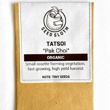 Load image into Gallery viewer, Organic Pak Choi - Tatsoi - Vegetable Seed packet - seedsloth.com