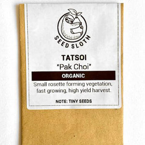 Organic Pak Choi - Tatsoi - Vegetable Seed packet - seedsloth.com