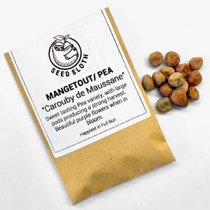 Pea / Mangetout - Carouby de Maussane - Vegetable Seed packet - seedsloth.com