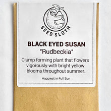 Load image into Gallery viewer, Rudbeckia - Black Eyed Susan - Flower Seeds packet