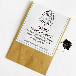 Cat Nip - Nepeta Mussini - Flower Seed packet - seedsloth.com