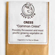 Load image into Gallery viewer, Cress - Common - Vegetable Seeds Packet