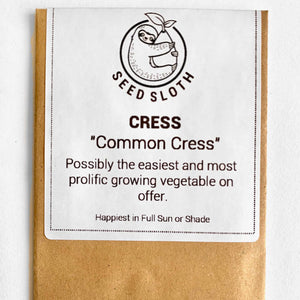 Cress - Common - Vegetable Seeds Packet