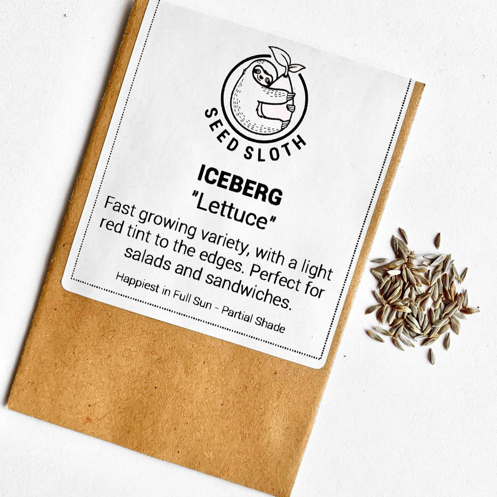 Lettuce - Iceberg - Vegetable Seeds packet