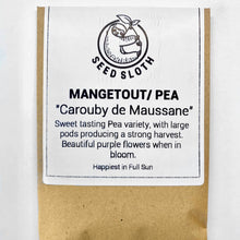 Load image into Gallery viewer, Pea / Mangetout - Carouby de Maussane - Vegetable Seed packet - seedsloth.com