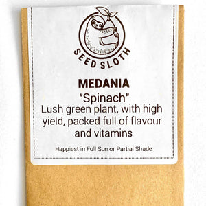 Spinach - Medania - Vegetable Seed packet - seedsloth.com